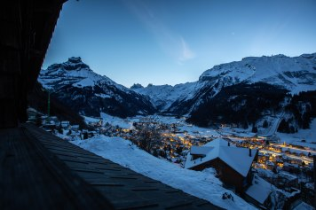 View from our Airbnb, Engelberg